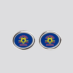 Colombia Soccer Oval Cufflinks