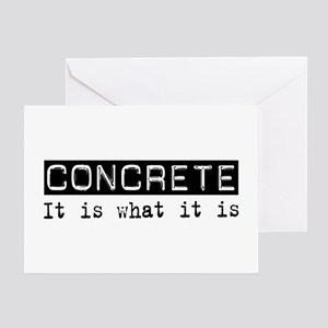 Concrete Is Greeting Card