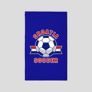 Croatia Soccer Area Rug