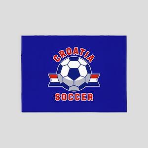 Croatia Soccer 5'x7'Area Rug