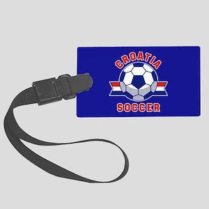 Croatia Soccer Large Luggage Tag
