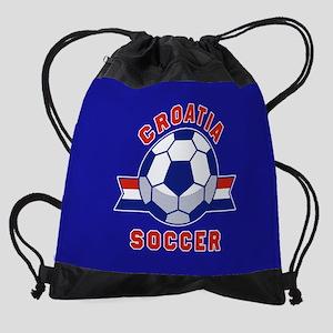 Croatia Soccer Drawstring Bag