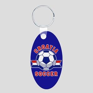 Croatia Soccer Aluminum Oval Keychain