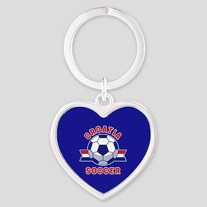 Croatia Soccer Heart Keychain