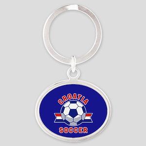Croatia Soccer Oval Keychain