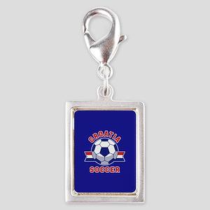 Croatia Soccer Silver Portrait Charm