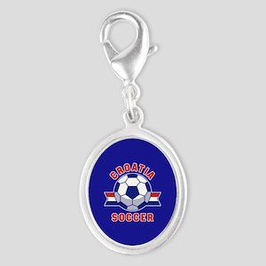 Croatia Soccer Silver Oval Charm