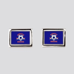 Croatia Soccer Rectangular Cufflinks