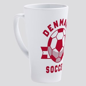 Denmark Soccer 17 oz Latte Mug