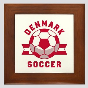 Denmark Soccer Framed Tile