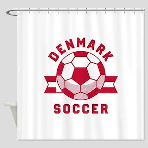 Denmark Soccer Shower Curtain