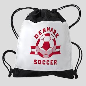 Denmark Soccer Drawstring Bag