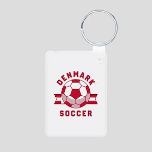Denmark Soccer Aluminum Photo Keychain