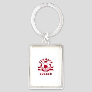 Denmark Soccer Portrait Keychain