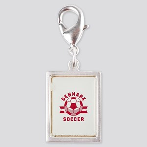 Denmark Soccer Silver Portrait Charm