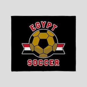 Egypt Soccer Throw Blanket