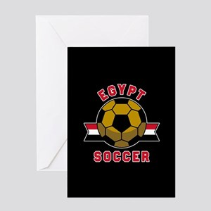 Egypt Soccer Greeting Card