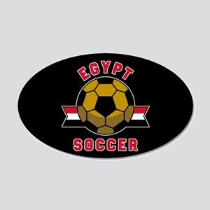 Egypt Soccer 20x12 Oval Wall Decal