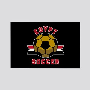 Egypt Soccer Rectangle Magnet
