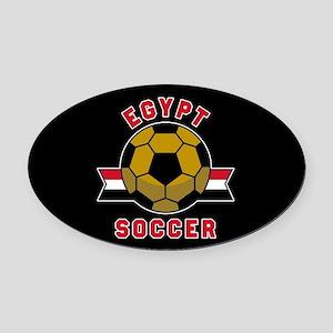 Egypt Soccer Oval Car Magnet