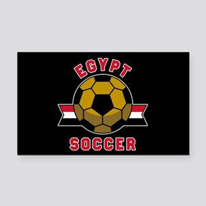 Egypt Soccer Rectangle Car Magnet