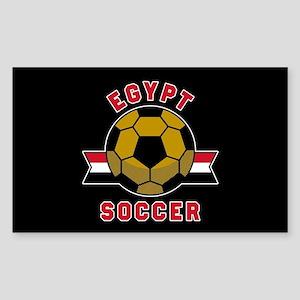 Egypt Soccer Sticker (Rectangle)
