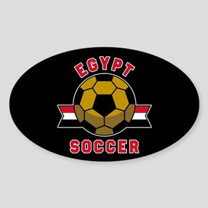 Egypt Soccer Sticker (Oval)