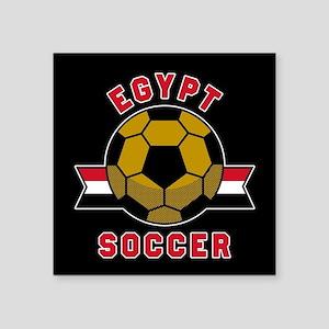"Egypt Soccer Square Sticker 3"" x 3"""