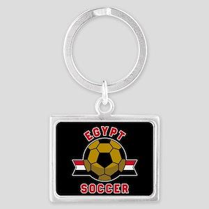 Egypt Soccer Landscape Keychain