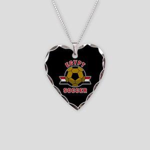 Egypt Soccer Necklace Heart Charm