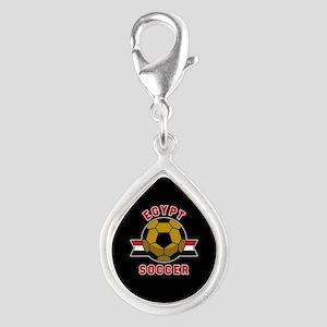 Egypt Soccer Silver Teardrop Charm