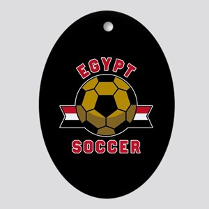 Egypt Soccer Oval Ornament