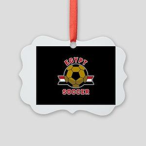 Egypt Soccer Picture Ornament