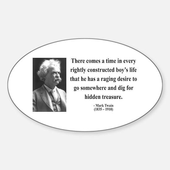 Mark Twain 43 Oval Decal