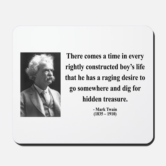 Mark Twain 43 Mousepad