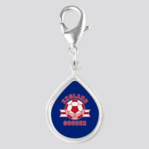 England Soccer Silver Teardrop Charm