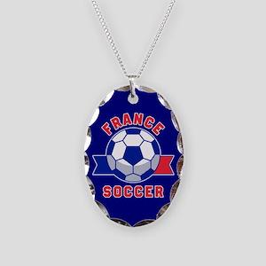 France Soccer Necklace Oval Charm
