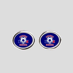 France Soccer Oval Cufflinks