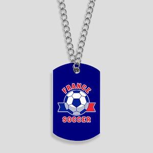 France Soccer Dog Tags