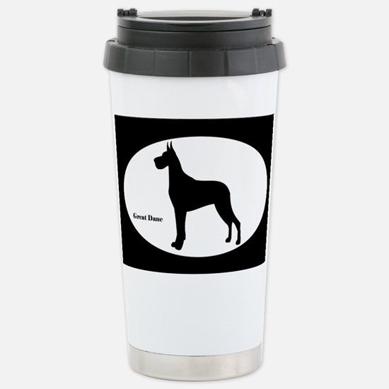 Great Dane Silhouette Stainless Steel Travel Mug
