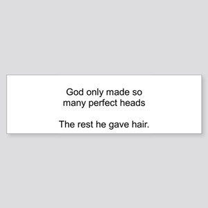 Bald Pride Bumper Sticker