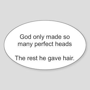 Bald Pride Oval Sticker