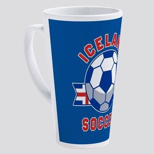 Iceland Soccer 17 oz Latte Mug