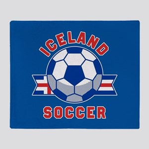Iceland Soccer Throw Blanket