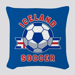 Iceland Soccer Woven Throw Pillow