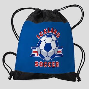 Iceland Soccer Drawstring Bag