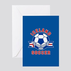 Iceland Soccer Greeting Card