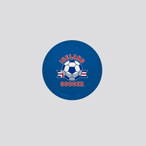 Iceland Soccer Mini Button