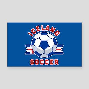 Iceland Soccer Rectangle Car Magnet