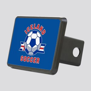 Iceland Soccer Rectangular Hitch Cover
